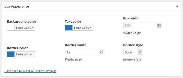 boxzilla-design-optionen
