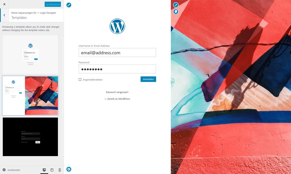 WordPress Loginformular gestalten