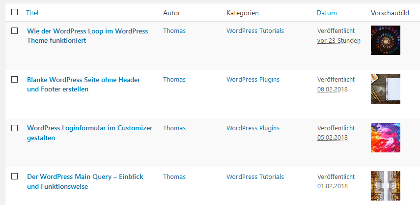 WordPress Featured Image Admin Thumb Plugin
