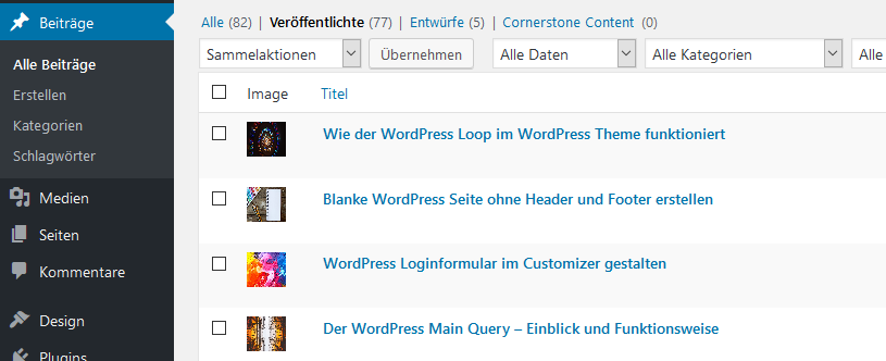 WordPress Featured Image Column Plugin