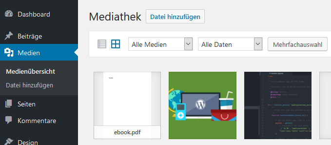 WordPress Mediathek