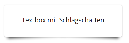 Textboxen mit Schlagschatten in WordPress