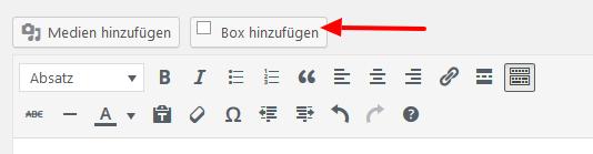 WordPress Textbox mit Schatten hinzufügen