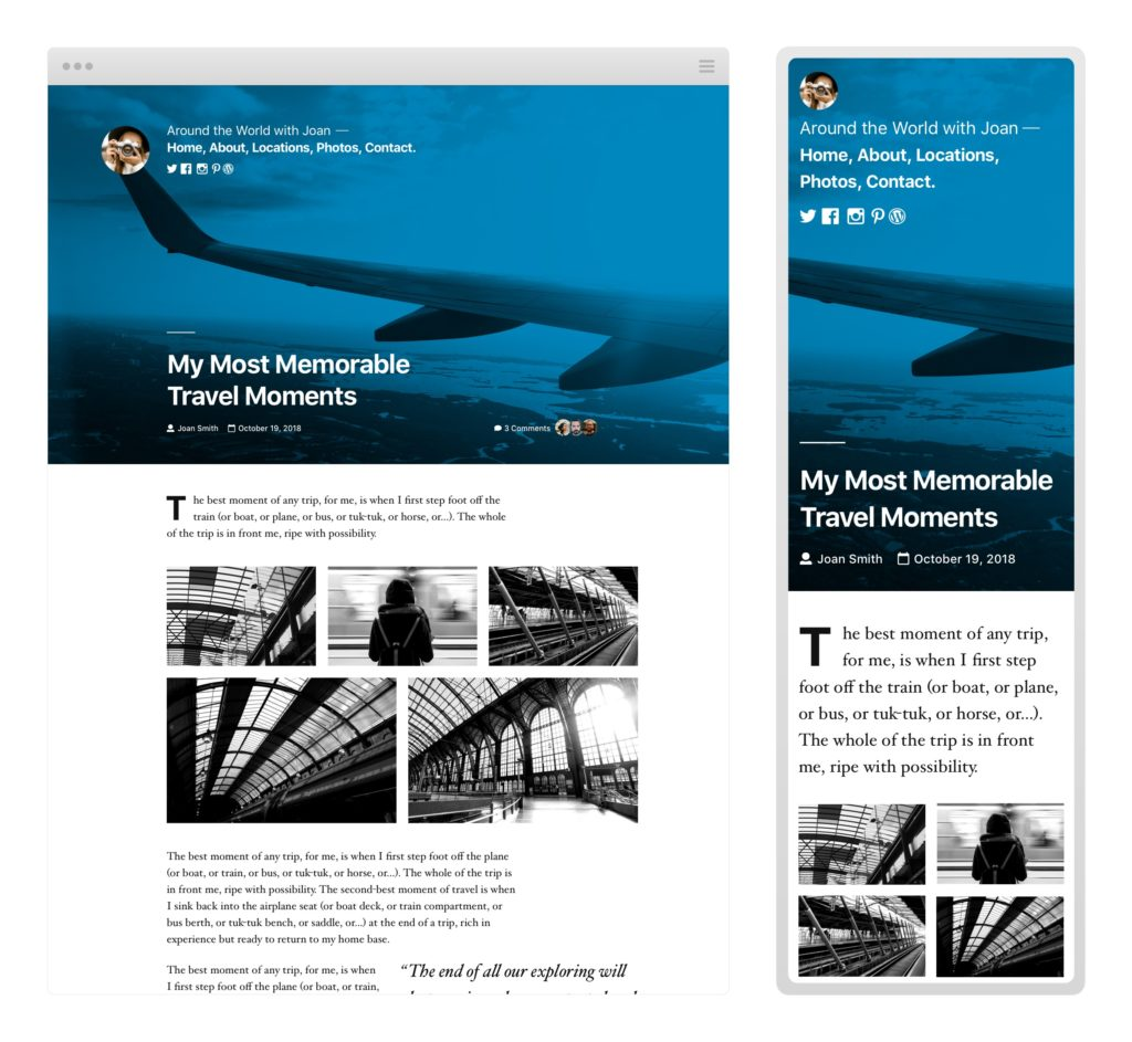 Twenty Nineteen WordPress Theme