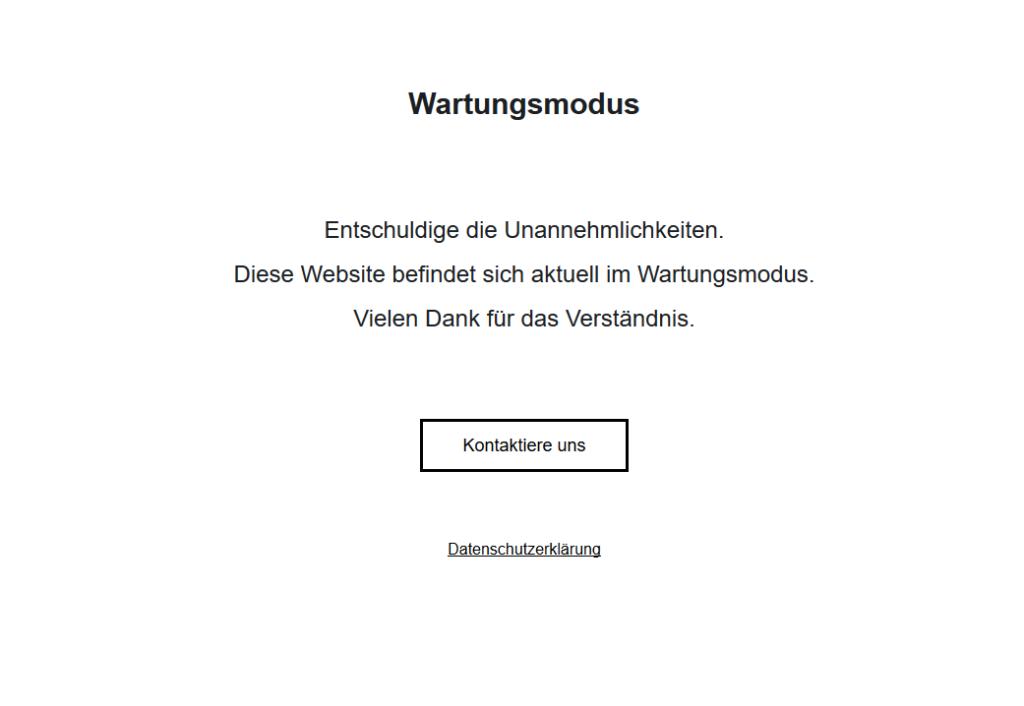Schlichter WordPress Wartungsmodus