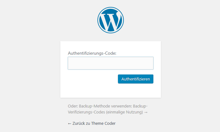 WordPress Login mit Zwei-Faktor-Authentifizierung