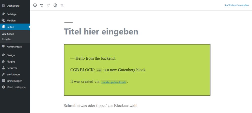 CGB Standard Block