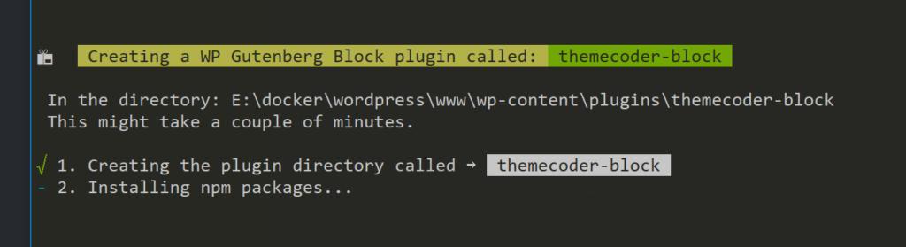 Create Guten Block Installation